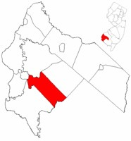 Quinton Township NJ in Salem County Map