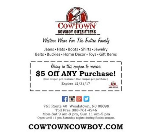 Cowtown Cowboy Outfitters half page advertisement