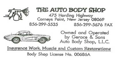 The Auto Body Shop business card