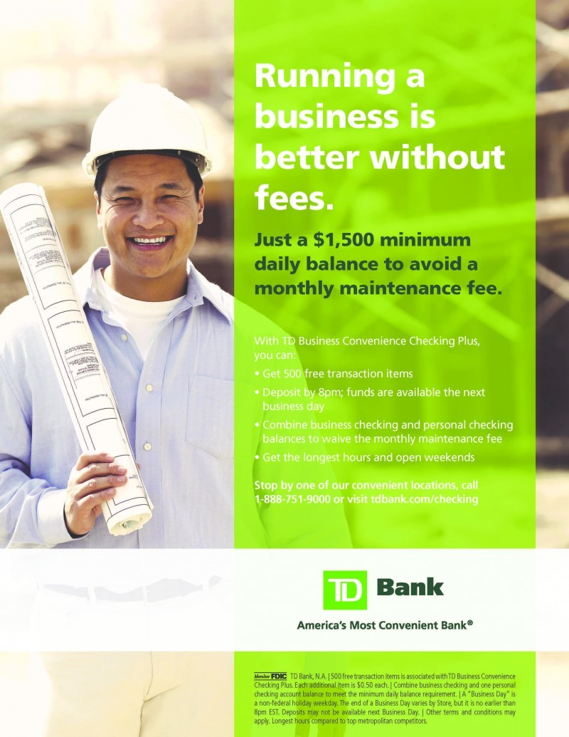 TD Bank full page color