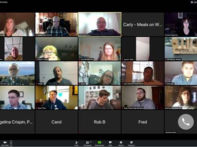 Screenshot of Attendees for Virtual Lunch on SBA Loans